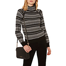 Buy Karen Millen Chunky Knit Jumper, Black/White Online at johnlewis.com