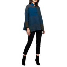 Buy East Coco Wool Swing Jacket, Blue Online at johnlewis.com