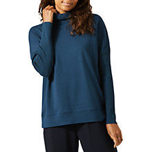 Buy Jigsaw Slouchy Polo Neck Top, Dark Petrol Online at johnlewis.com