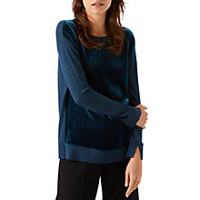 Buy Jigsaw Velvet Front Jumper Online at johnlewis.com