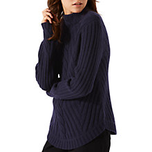 Buy Jigsaw Cable Cuff Jumper Online at johnlewis.com