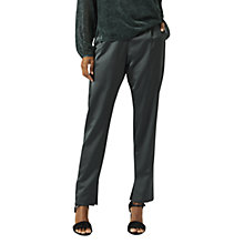 Buy Jigsaw Satin Tux Trousers, Midnight Green Online at johnlewis.com
