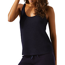 Buy Jigsaw Cashmere Vest Top, Navy Online at johnlewis.com
