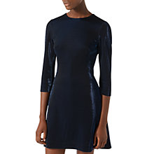 Buy Jigsaw Iris Iridescent Jersey Dress, Navy Online at johnlewis.com