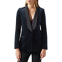 Buy Jigsaw Velvet Tux Jacket, Navy Online at johnlewis.com