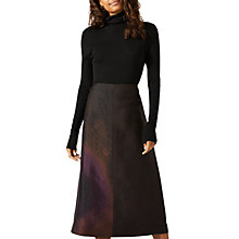 Buy Jigsaw Wind Spiral Jacquard Skirt, Purple Rain Online at johnlewis.com