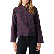 Buy Jigsaw Check Cropped Shirt, Rust Online at johnlewis.com