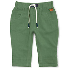 Buy John Lewis Baby Roll Up Trousers, Green Online at johnlewis.com