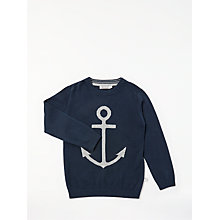 Buy Wheat Baby Anchor Knit Jumper, Navy Online at johnlewis.com