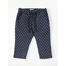 Buy Wheat Baby Ebbe Anchor Print Trousers, Navy Online at johnlewis.com