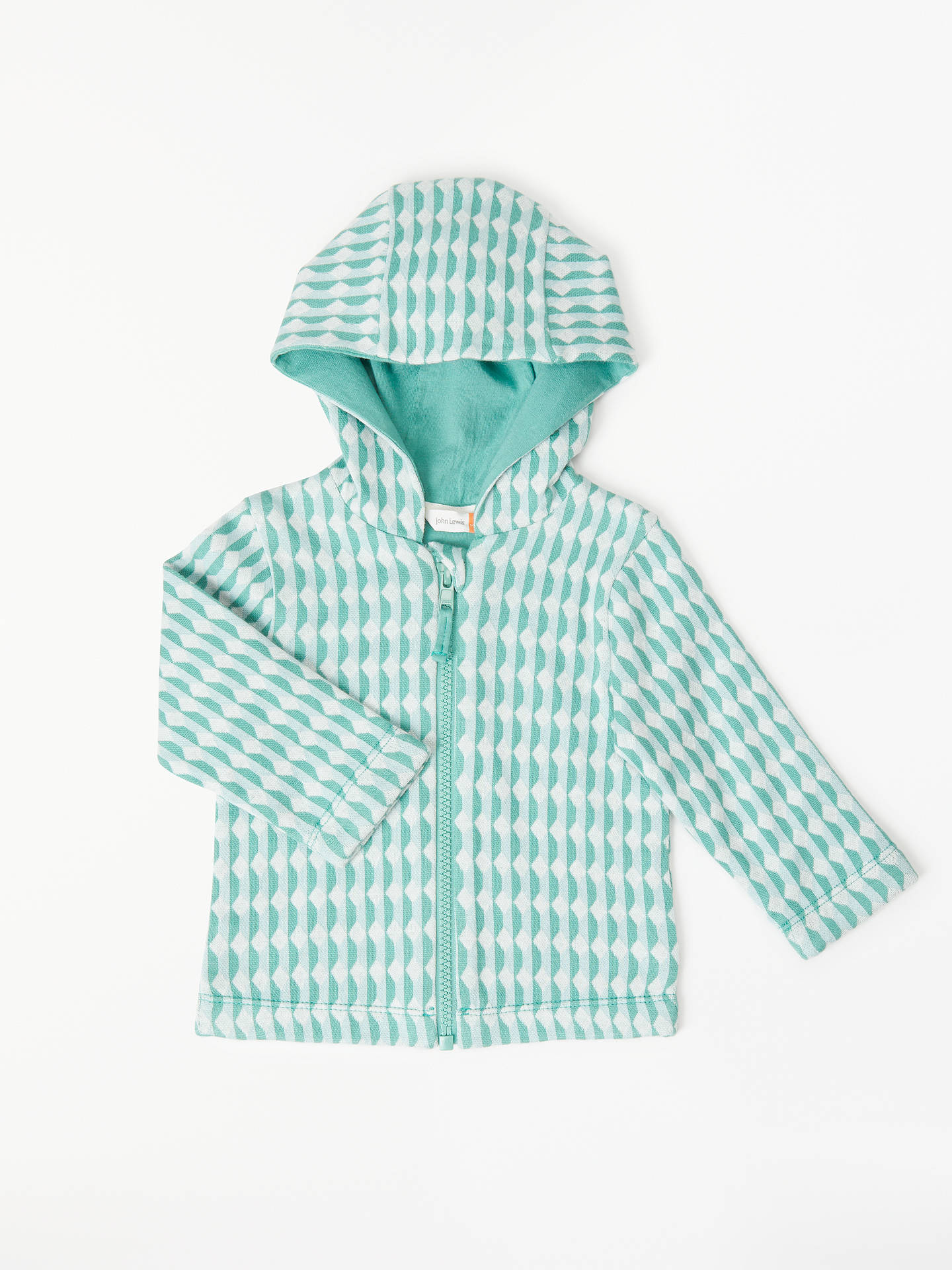 Buy John Lewis Baby Organic Cotton Jacquard Bomber Jacket, Multi, 12-18 months Online at johnlewis.com