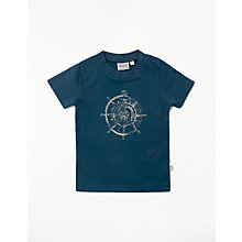 Buy Wheat Baby Compass Short Sleeve T-Shirt, Blue Online at johnlewis.com