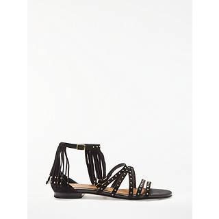 G2QH6N2S Women Black Flower Diamante Low Wedge Heel 2016 Summer Sandals Low cost