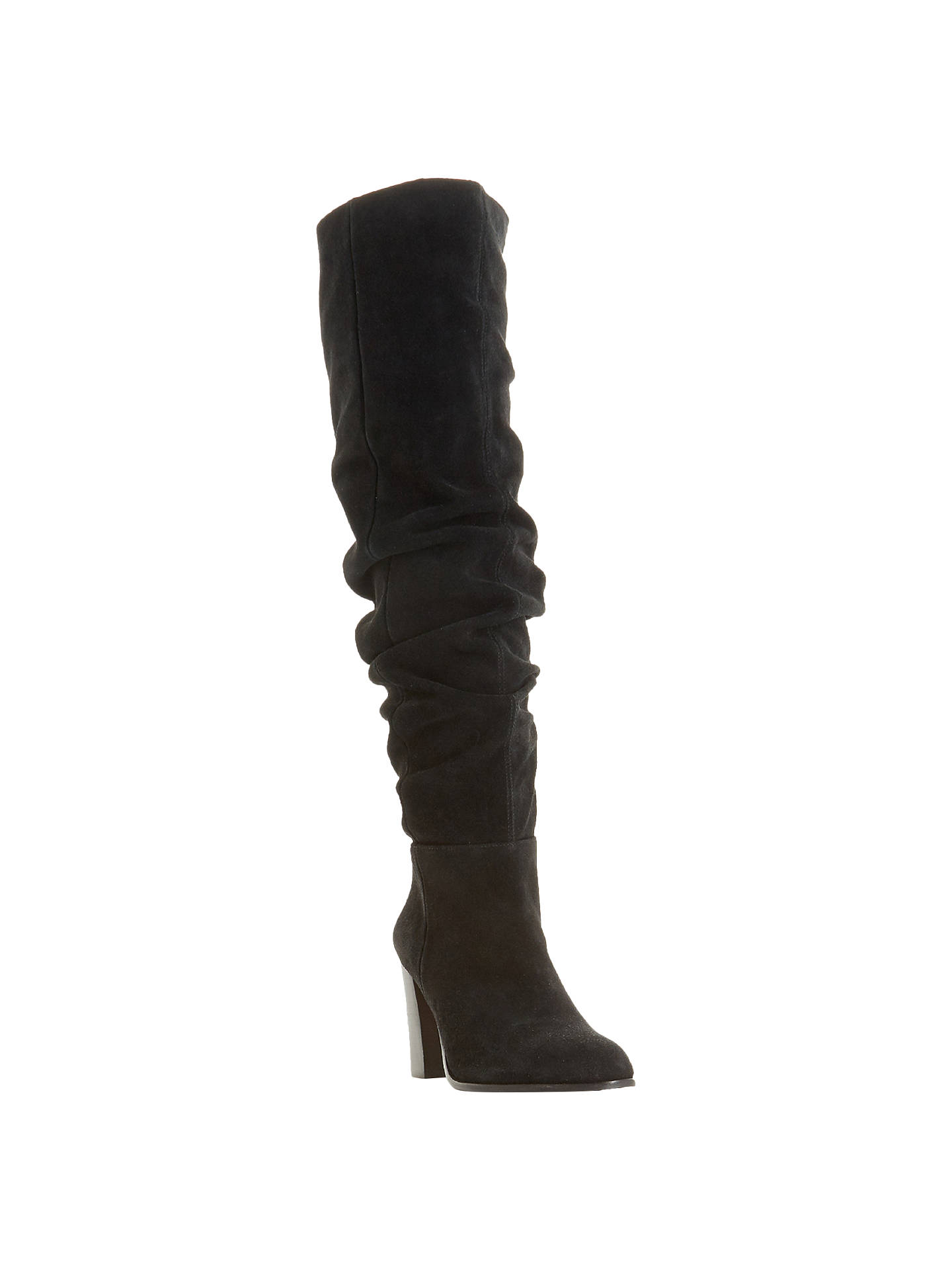 ec6081bce Buy Dune Vegas Knee High Slouch Boots, Black Suede, 3 Online at johnlewis.
