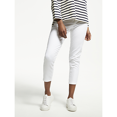 Collection WEEKEND by John Lewis Slim Fit Ankle Grazer Jeans, White