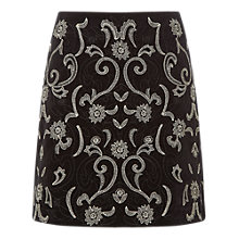 Buy White Stuff Audrina Velvet Skirt, Black Online at johnlewis.com