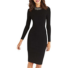 Buy Oasis Embellished Neck Dress, Black Online at johnlewis.com