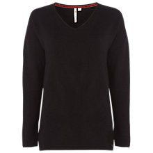 Buy White Stuff Hinterland V Neck Jumper, Black Online at johnlewis.com