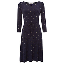 Buy White Stuff Ditsy Foil Spot Dress, Arran Teal Spot Online at johnlewis.com