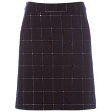 Buy White Stuff Norma Check Skirt, Old Blue Online at johnlewis.com