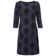 Buy White Stuff Winter Paisley Flock Dress, Navy Online at johnlewis.com