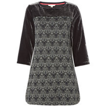 Buy White Stuff Decadence Velvet Jersey Tunic Dress, Winter Grey Print Online at johnlewis.com