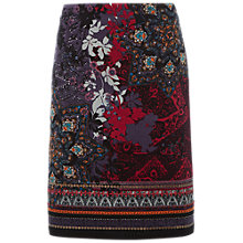 Buy White Stuff Isodora Velvet Printed Skirt, Multi Online at johnlewis.com