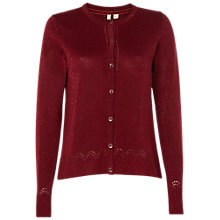 Buy White Stuff Baroque Metallic Cardigan, Berry Online at johnlewis.com