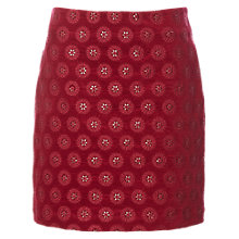Buy White Stuff Maiko Velvet Skirt, Scarlet Red Online at johnlewis.com