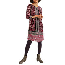 Buy White Stuff Lillyanna Paisley Tunic Dress, Dark Scarlet Red Print Online at johnlewis.com
