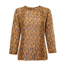 Buy White Stuff Ink Blot Sprig Print Top, Yellow Online at johnlewis.com