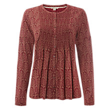 Buy White Stuff Bramble Shirring Jersey Top, Scarlet Red Online at johnlewis.com
