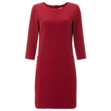 Buy White Stuff Peta Textured Ponte Shift Dress, Dark Scarlet Red Online at johnlewis.com