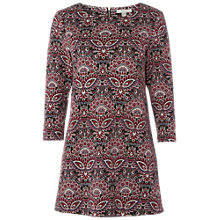 Buy White Stuff Rosie Floral Jersey Tunic Top, Dark Scarlet Print Online at johnlewis.com