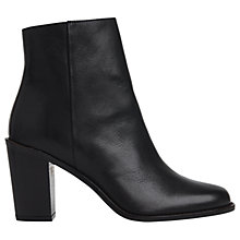 Buy Whistles Belvoir Block Heeled Ankle Boots, Black Leather Online at johnlewis.com