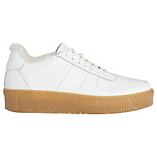 Buy Whistles Abbey Lace Up Shearling Trainers Online at johnlewis.com