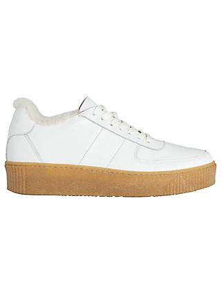 Whistles Abbey Lace Up Shearling Trainers