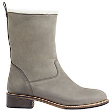 Buy Jigsaw Macsen Ankle Boots, Grey Nubuck Online at johnlewis.com