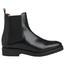 Buy Whistles Rubber Ankle Chelsea Boots, Black Leather Online at johnlewis.com