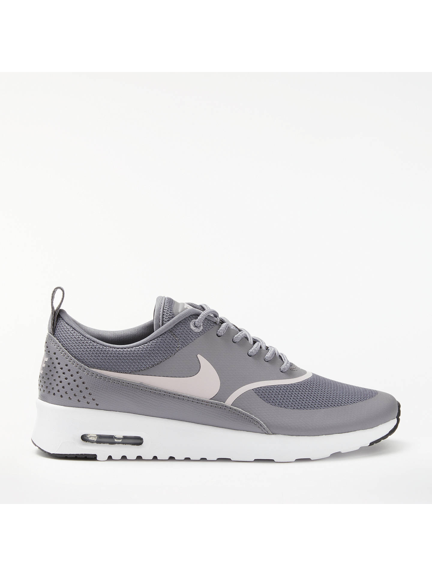 brand new 72ab6 0dae9 Buy Nike Air Max Thea Women's Trainers, Grey, 4 Online at johnlewis. ...