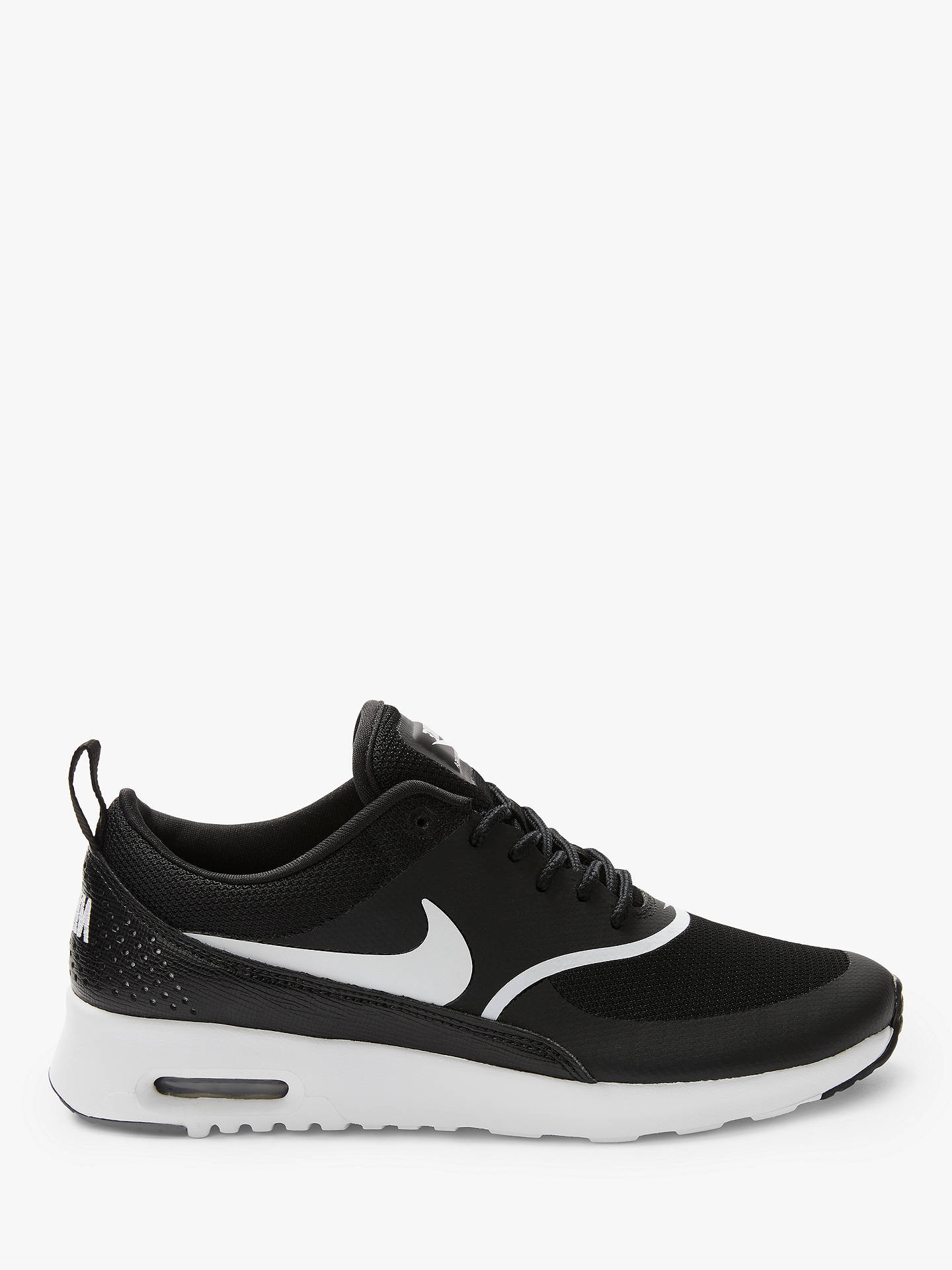 new style c2653 390ee Buy Nike Air Max Thea Women s Trainers, Black White, 4 Online at johnlewis  ...