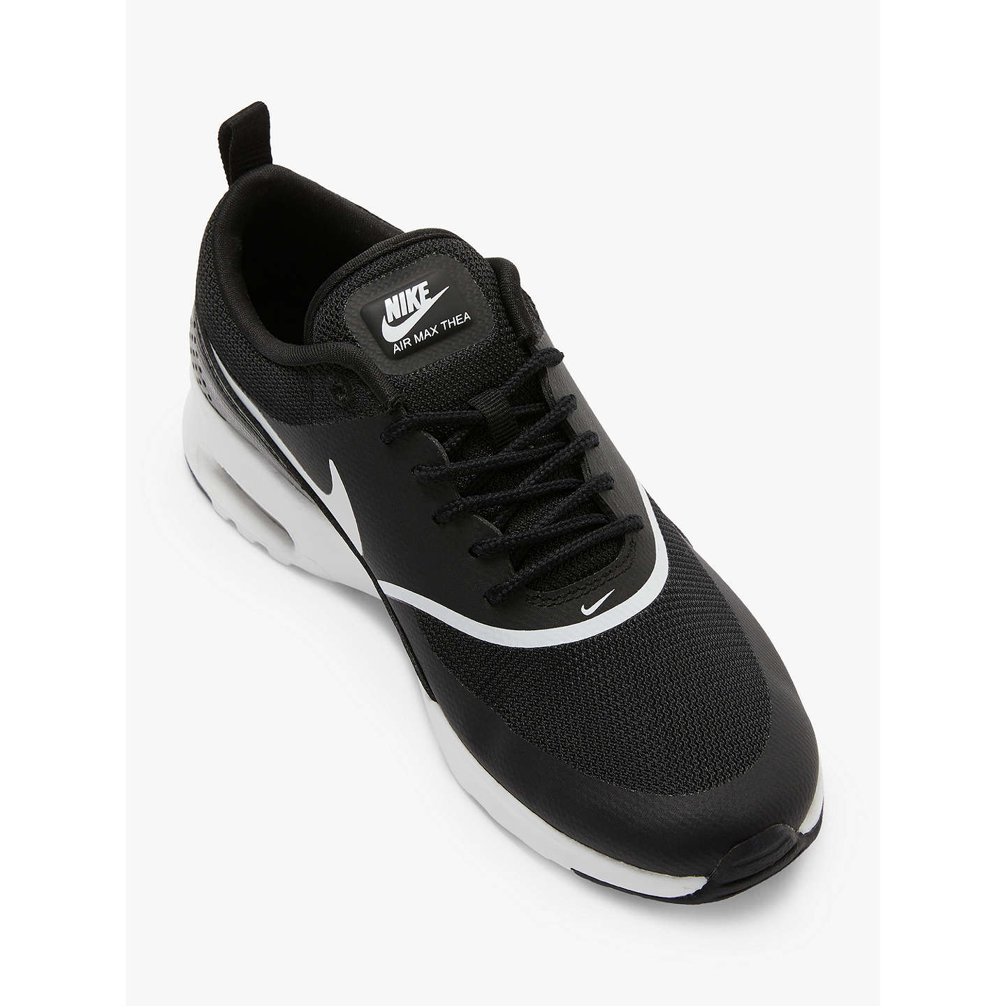 BuyNike Air Max Thea Women's Trainers, Black/White, 4 Online at johnlewis.