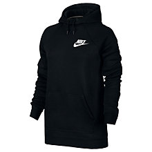 Buy Nike Sportswear Rally Hoodie, Black/White Online at johnlewis.com
