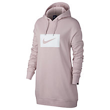 Buy Nike Sportswear Printed Hoodie, Barely Rose/White Online at johnlewis.com
