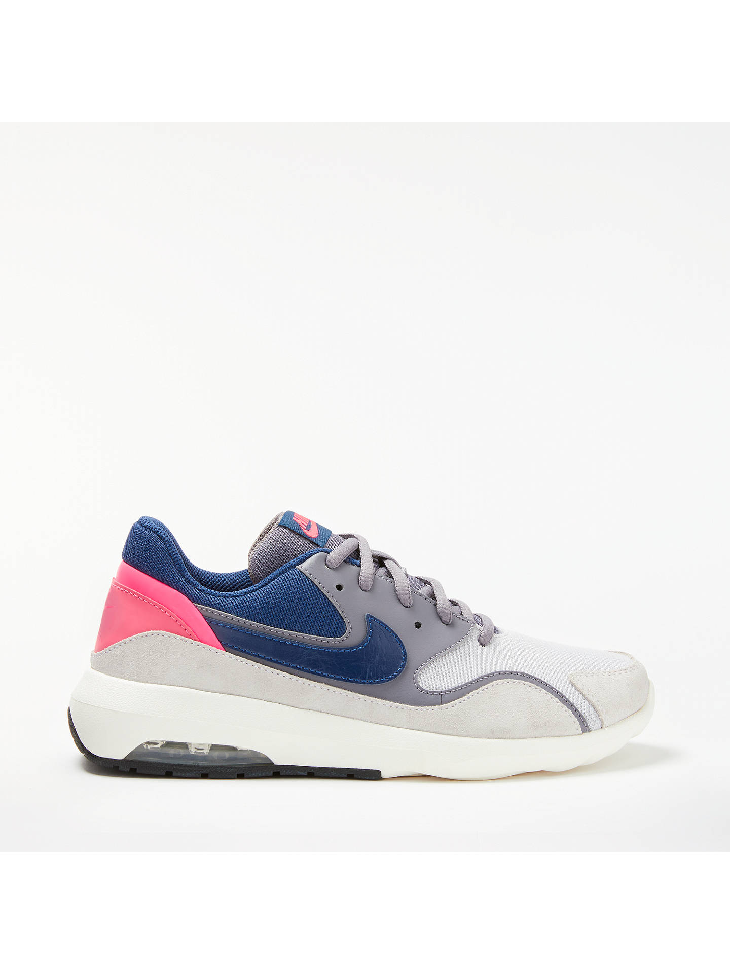 finest selection ed253 fc902 Buy Nike Air Max Nostalgic Women's Trainers, Grey/Blue, 4 Online at  johnlewis ...