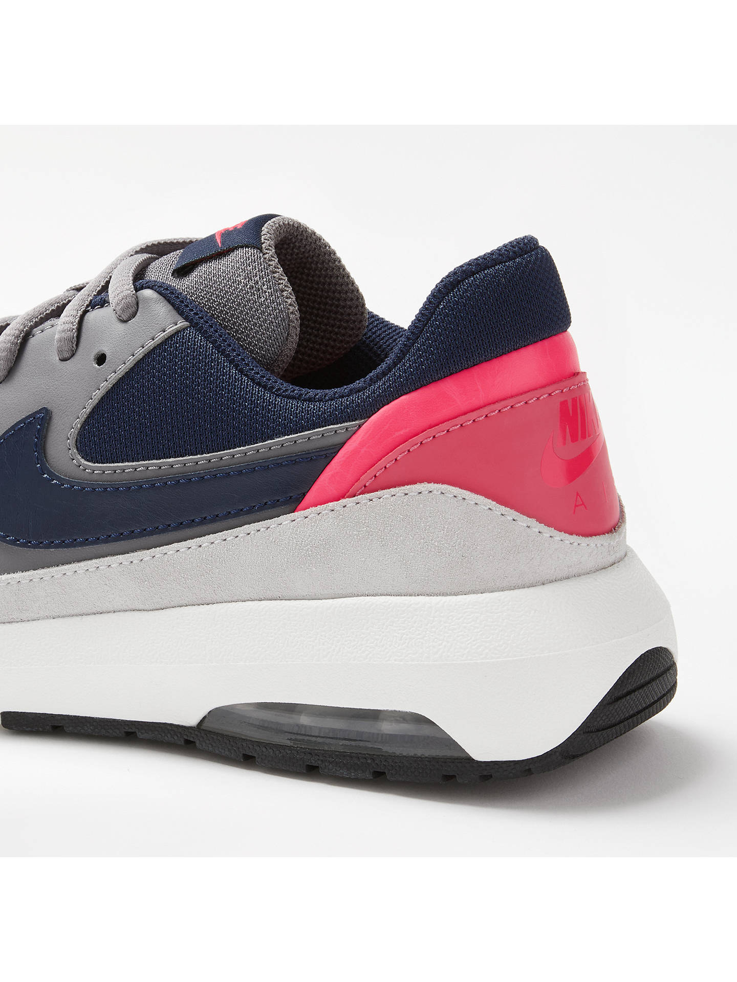 newest c8e80 d06dd ... Buy Nike Air Max Nostalgic Women's Trainers, Grey/Blue, 4 Online at  johnlewis ...