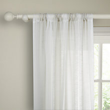Buy John Lewis Boutique Stripe Slot Top Voile Panel, Silver Online at johnlewis.com