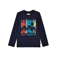 Buy Levi's Boys' Corel California Long Sleeve T-Shirt, Navy Online at johnlewis.com