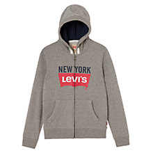 Buy Levi's Boys' New York Logo Sweat Hoodie, Grey Online at johnlewis.com