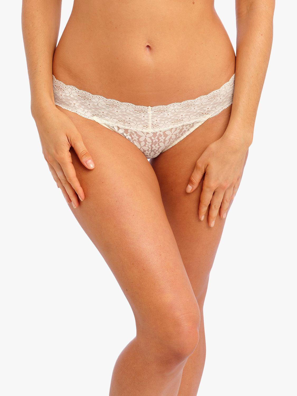 Wacoal Wacoal Halo Lace Bikini Briefs, Ivory